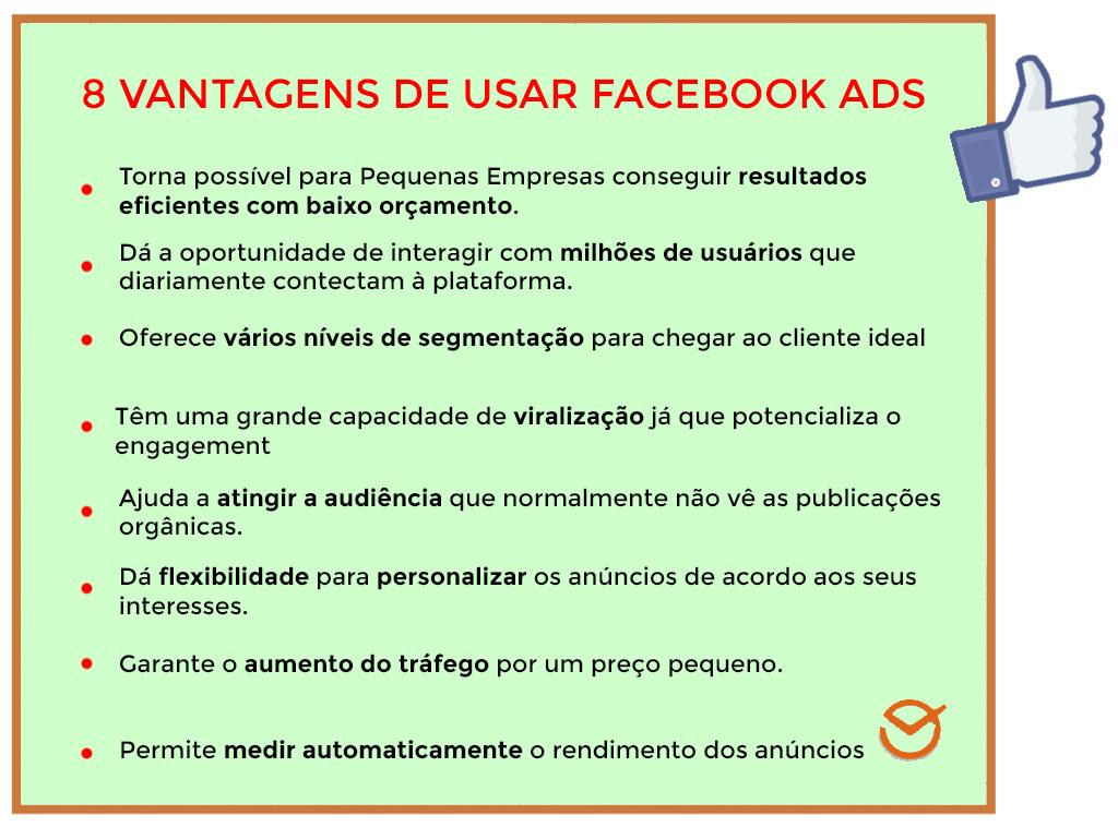 Vantagens de usar o Facebook ads