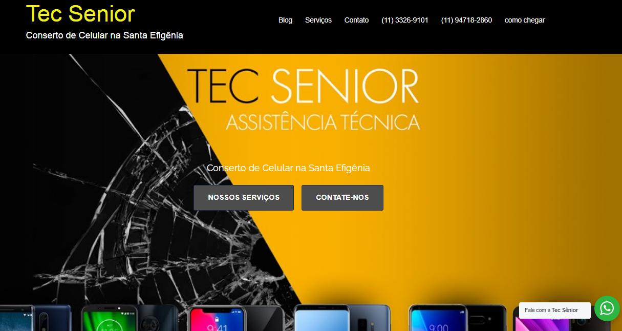 Criação de sites para assistência técnica