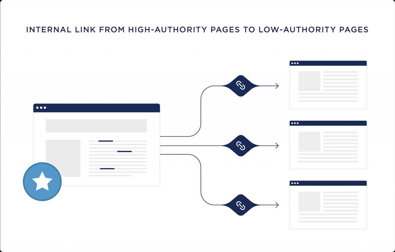 Link interno de páginas de alta autoridade para páginas de baixa autoridade
