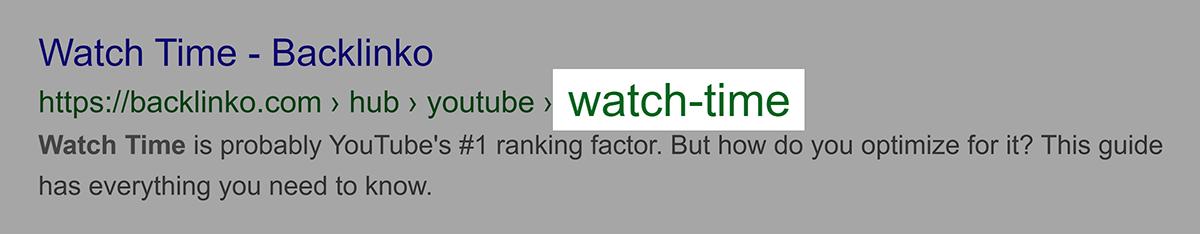 Palavra-chave no URL após a subpasta