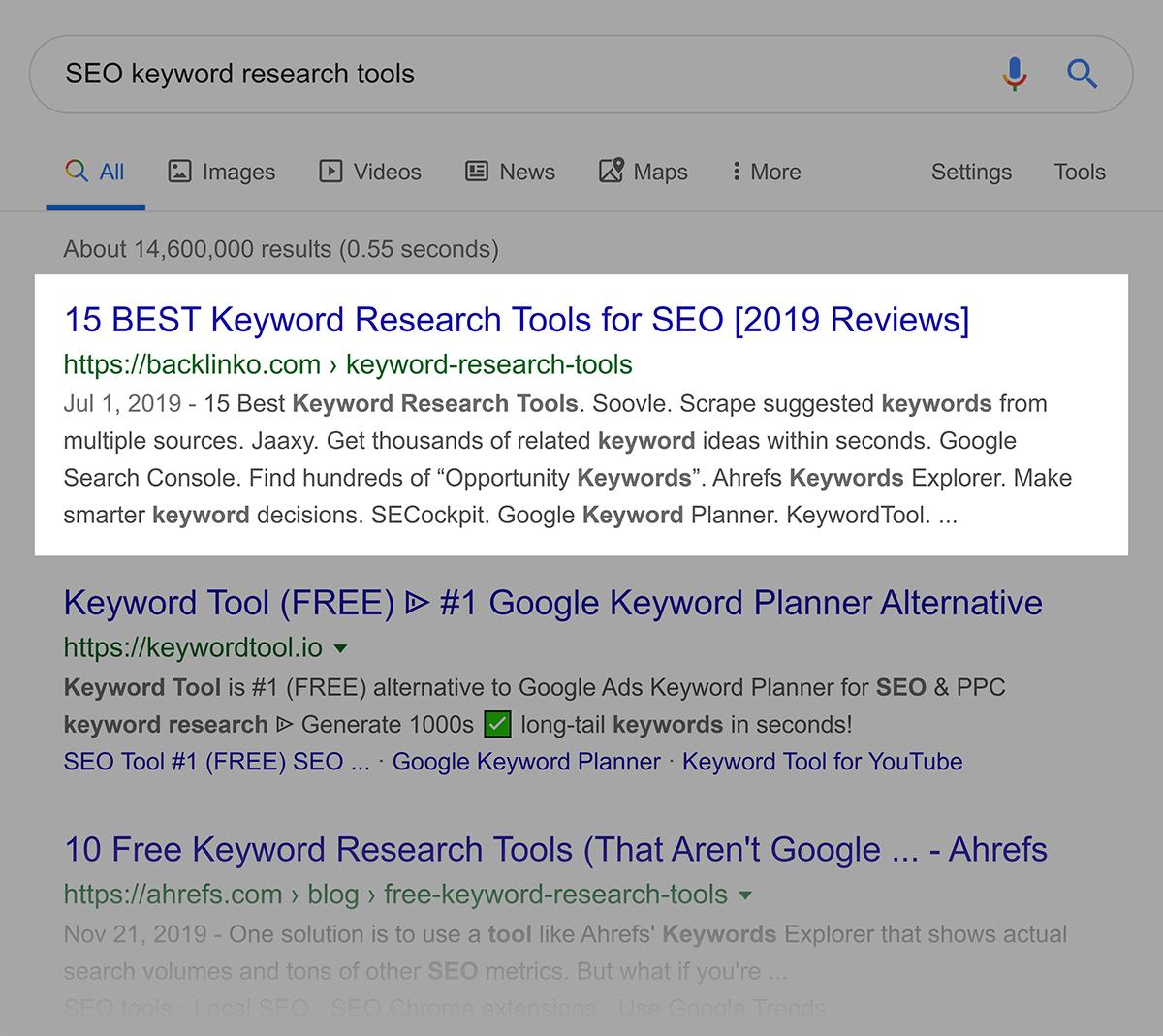 """""""Ferramentas de pesquisa de palavras-chave SEO"""" SERP"""