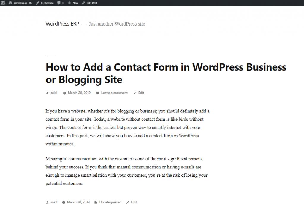 resultado final - Como instalar o WordPress no localhost