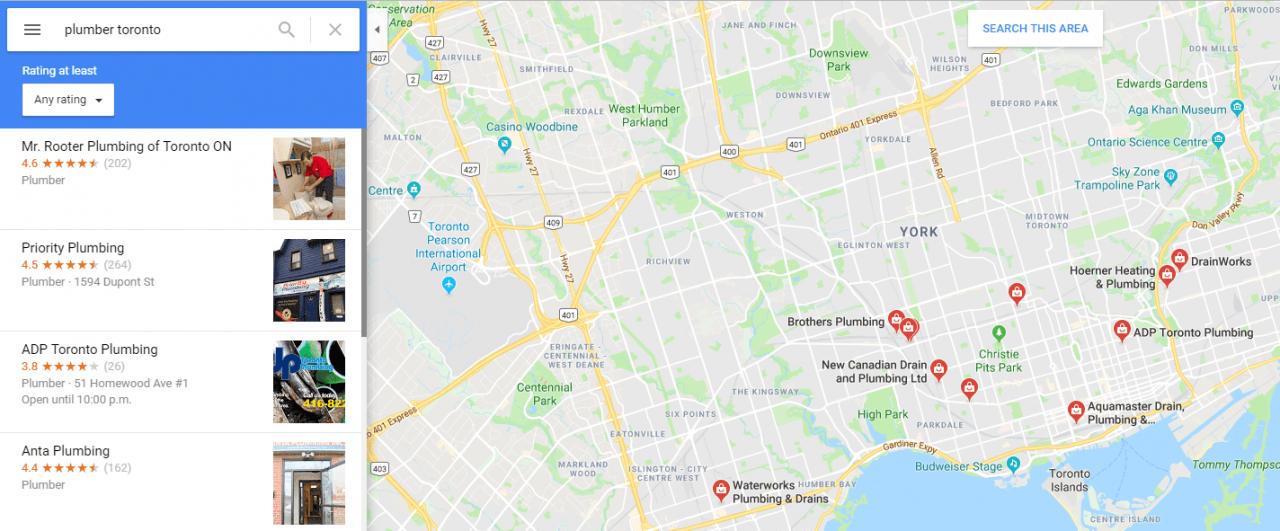 lista de mapas do google - seo local