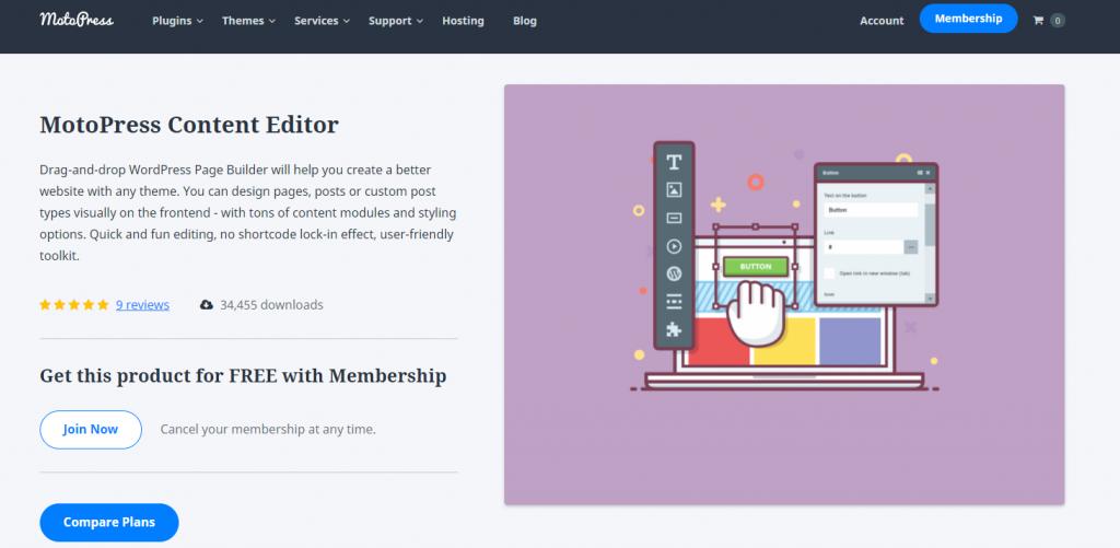 Construtor de páginas do MotoPress WordPress