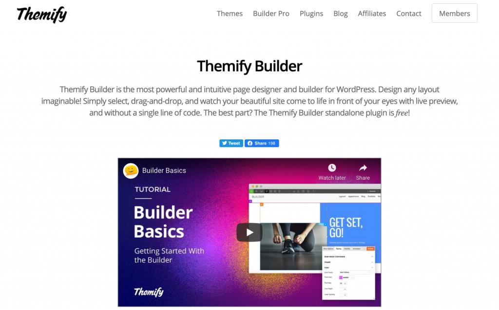 Construtor de páginas Themify WordPress